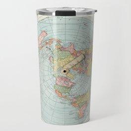 Flat Earth Society Wall Map Travel Mug