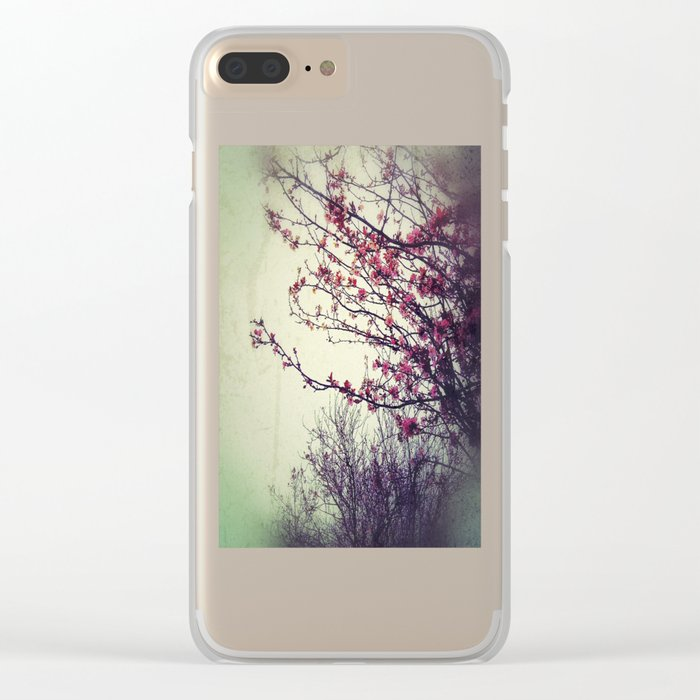 Cherry Blossom Clear iPhone Case