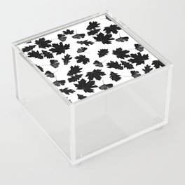 Falling Autumn Leaves in Black and White Acrylic Box