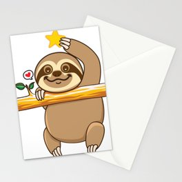 Sloth Star Stationery Cards