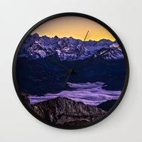 giants Wall Clocks featuring Swiss Giants by Czech the Count