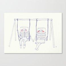 best friend cat  Canvas Print