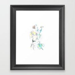 Flora and Woman Framed Art Print
