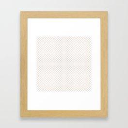 Bridal Blush Polka Dots Framed Art Print