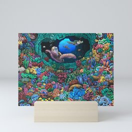 Turtle Paradise Mini Art Print