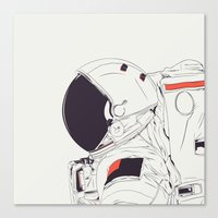 astronaut Canvas Prints featuring GOD IS AN ASTRONAUT by CranioDsgn