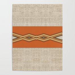 Southwestern Earth Tone Texture Design Poster