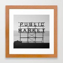 City Fish Market Framed Art Print