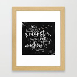 Six of Crows - Monster - Black Framed Art Print