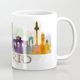 Madrid City Skyline HQ Coffee Mug