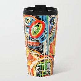 """Child"" street art brut expressionist digital painting Travel Mug"