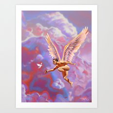 Angel of Peace in Troubled Times Art Print