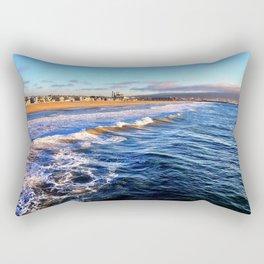 "Hermosa Beach ""On the Pier 2"" Rectangular Pillow"