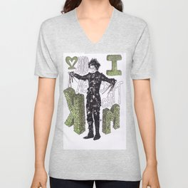 """Hold me"", ""I can't"".  -Edward Scissorhands Unisex V-Neck"