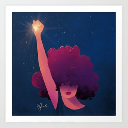 Black Girls are Magic Art Print
