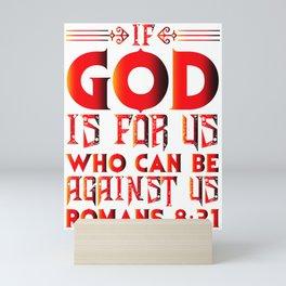 Romans 8:31 Mini Art Print