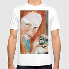 Redhead Green Frog Mens Fitted Tee MEDIUM White