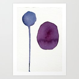 Ultra Violet Shapes Abstract Painting Art Print
