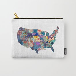USA map art 2 #usa #map Carry-All Pouch