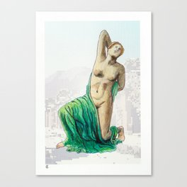 Dying Daughter of Niobe in Pompeii Canvas Print