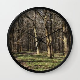Through the Oaks Wall Clock