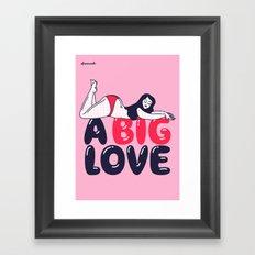 A Big Love Framed Art Print