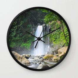 Third carbet's fall Wall Clock