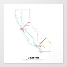 Highways of the USA – California Canvas Print