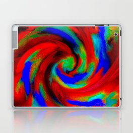 Red Blue Green Fireball Sky Explosion Laptop & iPad Skin