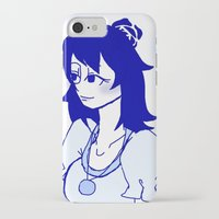 fire emblem iPhone & iPod Cases featuring Fire Emblem - Her Grace, Lucina by MinawaKittten