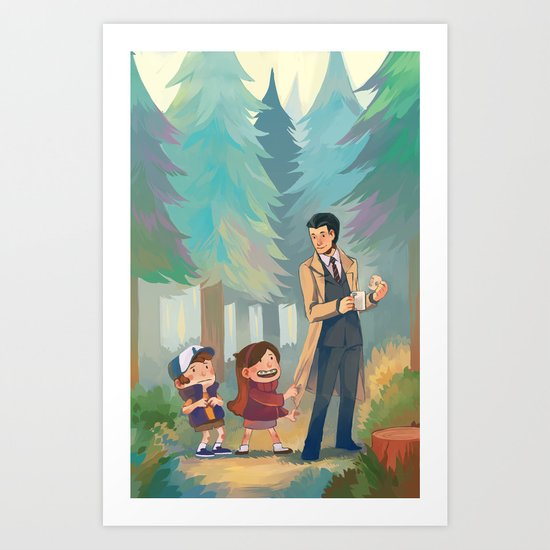 Small Town Adventures Art Print