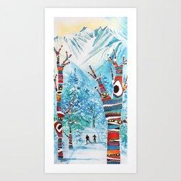 Forelsket ('Falling in Love' in Norwegian) Art Print