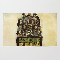 reggae Area & Throw Rugs featuring Legends of Reggae Poster by Panda