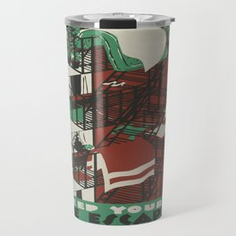 Vintage poster - Keep Your Fire Escapes Clear Travel Mug