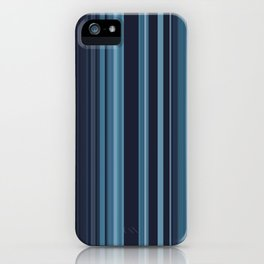 Icy Blue Stipes iPhone Case