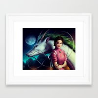 "spirited away Framed Art Prints featuring ""Spirited Away"" by PeeGeeArts"