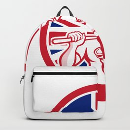 British Drainlayer Union Jack Flag Icon Backpack