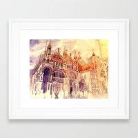 takmaj Framed Art Prints featuring Venezia by takmaj