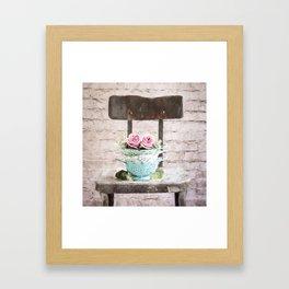 Colander Roses Framed Art Print