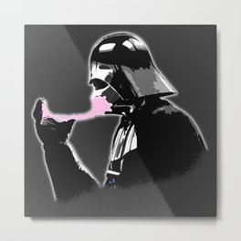 Popped Bubblegum bubble - Vader Style Metal Print