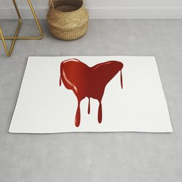 Melting Red Heart Rug