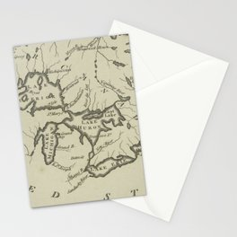 Vintage Map of The Great Lakes (1794) Stationery Cards