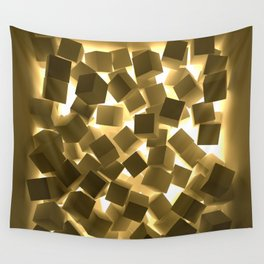 3D What Burns in Your Box? Wall Tapestry