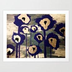 Bleeding Lilies Art Print