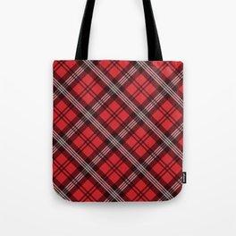 Scottish Plaid-Red Tote Bag