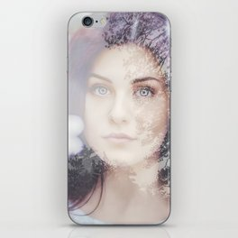 Portrait woman double exposure iPhone Skin