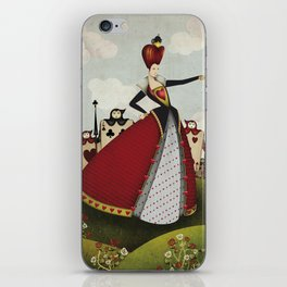 Off with their heads Queen of hearts from Alice in Wonderland iPhone Skin
