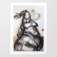 Giant Butterflies  Art Print