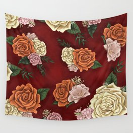 Red luxury flowers Wall Tapestry