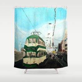 Blackpool Lancashire England Acrylic Fine Art Shower Curtain